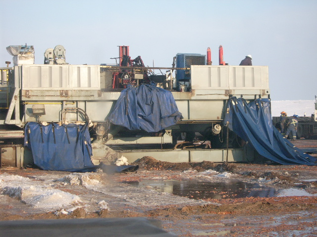 Tarps on Oil rig